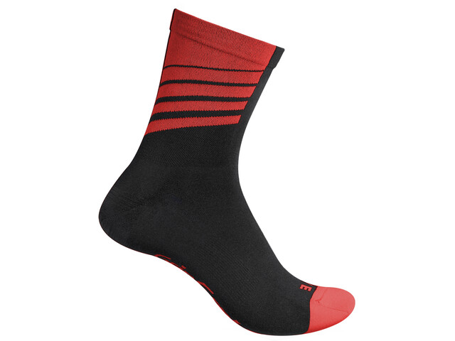 GripGrab Racing Stripes Strømper, black/red